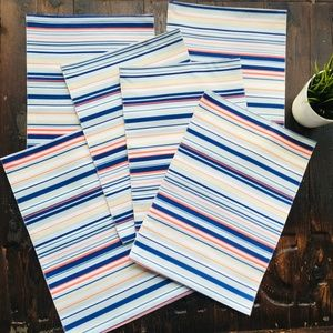 SET of 6 Nautical Striped Placements NEW NWT